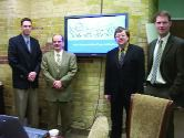 From left: Jon Galsworthy, Mike Bartlett, Eric Savory, James Scott of UWO.