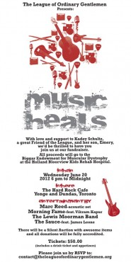 MUSIC HEALS Charity Event!