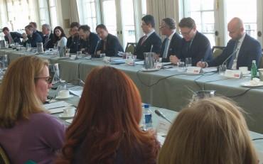 Members of the Insurance Development Forum (IDF) meeting in Washington, DC.