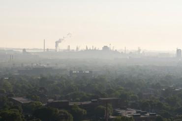 Smog and haze landscape