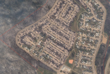 Google Crisis Map Fort McMurray zoom