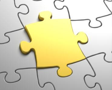 Last gold puzzle piece