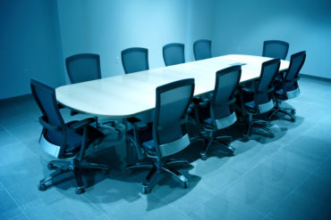 Modern Board Room Empty Round Table