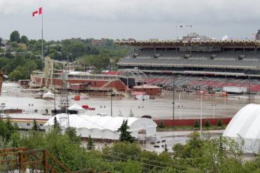 Flooded Calgary Stampede Grandstand