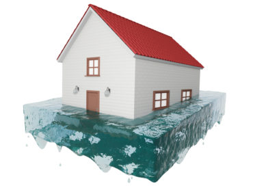 3D model of a flooded house