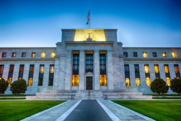 The Federal Reserve Building In Washington DC, USA