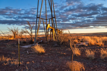 Oil Drill Rig on the Open Plains
