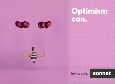 Sonnet's out-of-home campaign features photography from Vincent Dixon, capturing optimism narratives conveyed in a single frame. (CNW Group/Sonnet Insurance)