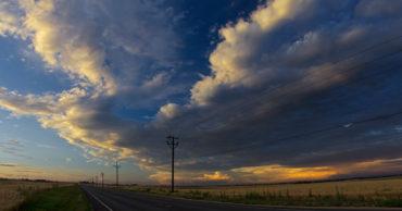 Storm over the highway near Longmont Colorado