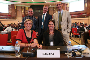 Delegates from Canada. Photo: UNEP.