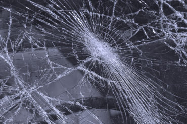 Shattered Windshield Close Up.