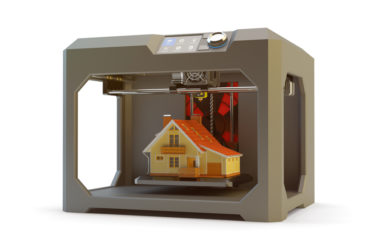 Modern engineering, prototyping, creating objects and printing technology concept