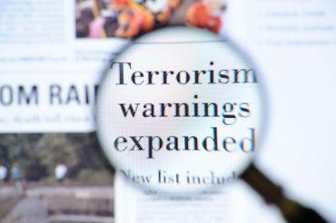Terrorism warnings headlines