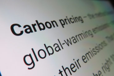 Carbon pricing - dictionary definition