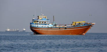 Port of Djibouti, republic of Djibouti - February 7, 2016: Cargo ship which is used for transportation between Yemen and Djibouti, for cargo transportation in Gulf of Aden, Red Sea and Indian Ocean