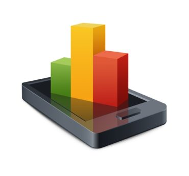 Smart Phone with a graph illustration