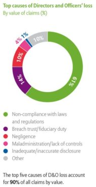 Top causes of D&O loss by value of claims