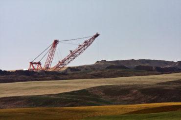 Coal draglines in Southern Saskatchewan