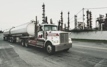 Semi Tanker Leaving Refinery