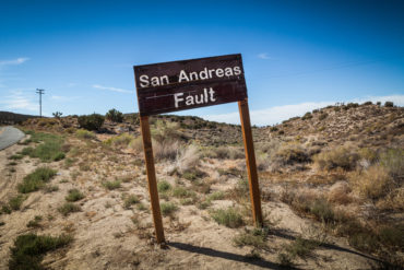San Andreas Fault Sign, Pallet Creek Road, Pearblossom California
