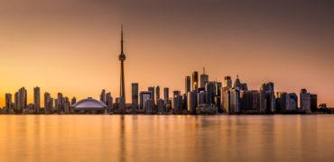Toronto panorama at sunset