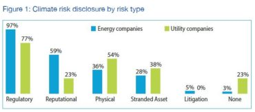 Climate risk disclosure by risk type