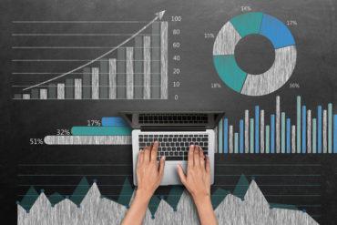 Business graph concept