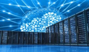 Cloud computing and server room.