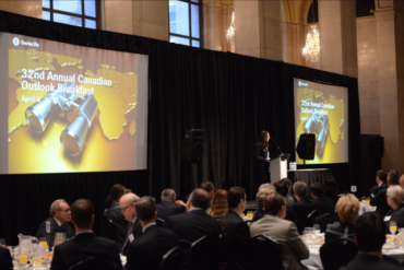 Canadian p&c industry leaders gathered in downtown Toronto for Swiss Re Canada's 32nd Annual Canadian Outlook Breakfast