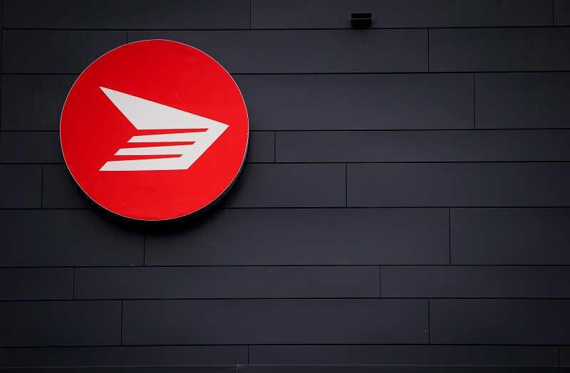 The Canada Post logo is seen on the outside the company's Pacific Processing Centre, in Richmond, B.C., on June 1, 2017. The Canadian Union of Postal Workers says it has given strike notice to Canada Post that workers could walk off the job as early as next week. THE CANADIAN PRESS/Darryl Dyck