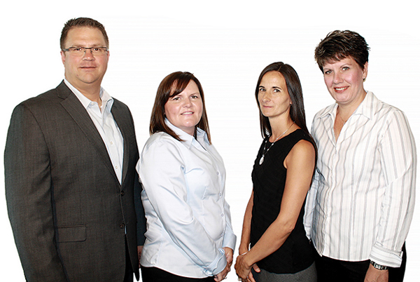 Left to right: Greg Doerr, Sheri Turner, Denisse Cumby and Holly Doerr; Doerr Claims Services