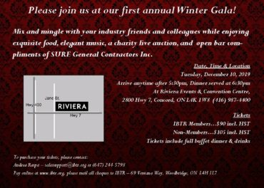 IBTR Winter Gala Invitation