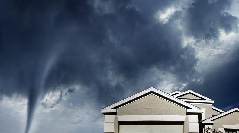 Tornado near homes