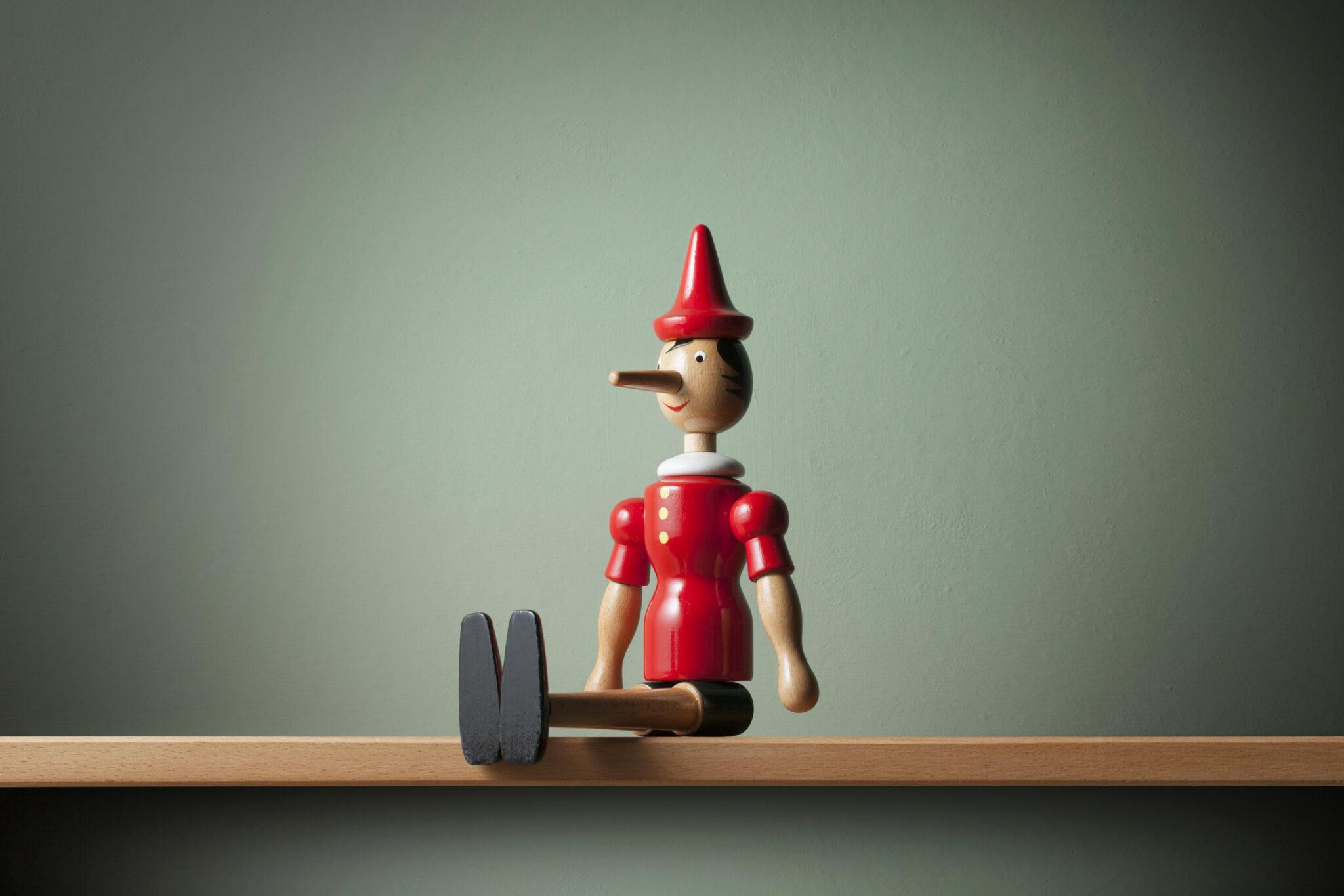 Pinocchio on the shelf