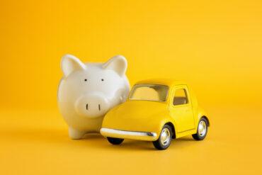 Piggy bank and car