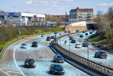 Autonomous vehicle driving on a highway