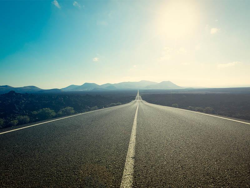 road with horizon